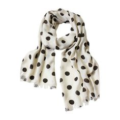 Polka dots! And I might have to start wearing scarves soon.  Polka Dot Beige now featured on Fab.