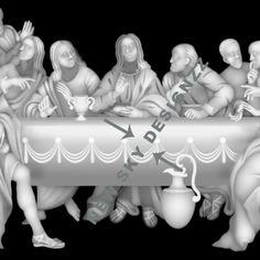 Artcam jesus last supper design
