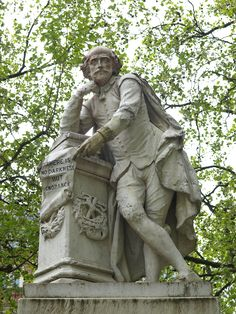 Estatua de William Shakespeare. Plaza Leicester. Londres, Inglaterra.