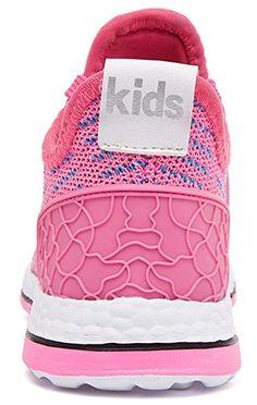 3f2d5a9e3cf2 DADAWEN Kid s Boy s Girl s Lace-Up Athletic Trail Running  Shoe(Toddler Little Kid Big Kid) Pink US Size 13 M Little Kid
