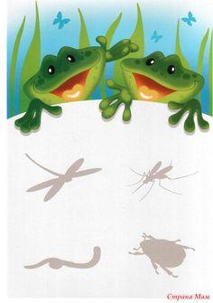 "Развивающая игра ""Найди пару"" - Развиваем ребенка дома (от 0 до 7 лет) - Страна Мам Paper Doll Craft, Doll Crafts, Paper Dolls, Activities For Kids, Crafts For Kids, Mobiles For Kids, Little Einsteins, Forest Theme, Animal Habitats"