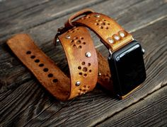 Vintage Bohemian Boho  Double Tour Band - Wrap Band  Apple Watch Band Strap -  Handmade leather band for Apple Watch 38mm