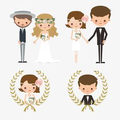 creative wedding couple figures, Character, Lovers, Wedding PNG and Vector Art Deco Invitations, Wedding Invitation Cards, Wedding Cards, Alcohol Wedding Favors, Wedding Favours Luxury, Wedding Illustration, Couple Illustration, Free Wedding, Trendy Wedding