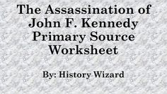 This worksheet allows students to use a primary source document to learn about the assassination of John F. Kennedy from the perspective of Lady Bird Johnson. I use the worksheet to help students better understand the assassination and the chaos that followed.This activity is very easy to use.