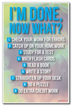 PosterEnvy.com - I'm Done, Now What? - NEW Classroom Rules Poster, $8.99…