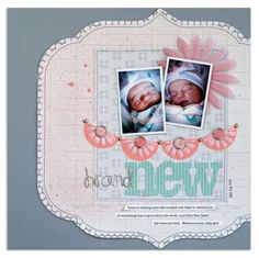 Pinterest baby layouts | Brand new baby layout | Baby craft inspiration