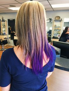 Gorgeous purple and blonde done by Tammy today! Bright colors are perfect for summer time :-)