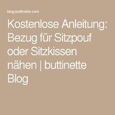 Kostenlose Anleitung: Bezug für Sitzpouf oder Sitzkissen nähen | buttinette Blog