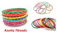 How to make Easy Silk Thread Dotted Bangles | Beaded Bangles at Home | T...