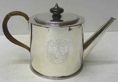"Georgian teapot in ""royal"" silver"