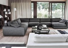 Cheap And Lovely Modern Sofa Set Designs For Living Room 31 Big Living Rooms, Living Room Sofa Design, Living Room Sectional, Living Room Grey, Living Room Modern, Living Room Designs, Furniture Sofa Set, Luxury Furniture, Furniture Design