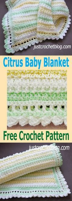 Hope you enjoy this free crochet citrus baby blanket pattern, don't forget to pin! Crochet Baby Blanket Free Pattern, Crochet Blanket Edging, Crochet Baby Blanket Beginner, Baby Blanket Size, Crochet Blankets, Crocheted Baby Afghans, Crotchet Baby Blanket, Crochet Boarders, Crochet Edgings