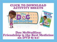 Free Doc McStuffins Activity Sheets · Craft Gossip   CraftGossip.com