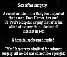 Sex after Surgery Funny read