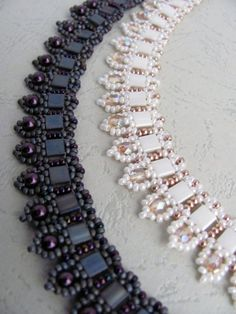 Tutorial for beadwoven tila bead necklace 'To the