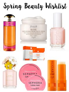Today on Breakfast at Lilly's I am sharing my spring beauty wishlist in honor of it officially being spring time!