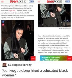 Y'all don't know how woke the new teen vogue. Their current editor in chief is the youngest at the magazine ever and yeah, she's an educated black woman. Pray For Venezuela, Intersectional Feminism, My Black Is Beautiful, Equal Rights, Teen Vogue, Faith In Humanity, Social Issues, Social Justice, Human Rights