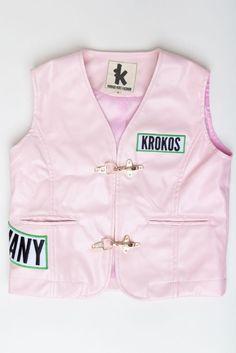 Kinder Biker Kutte Krokos Kids Fashion Bikerweste Kindermode Harley Rosa NEU