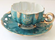 Gorgeous Royal Halsey Very Fine Japan tea cup by JoyJoeTreasures.