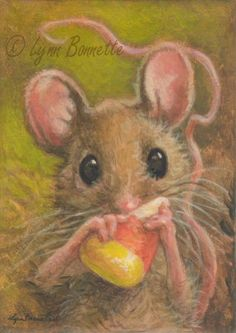 "Art by Lynn Bonnette: ""Candy Corn Mouse"""