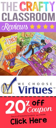 Christian Character Curriculum for Homeschool, Sunday School and Public School Settings. We Choose Virtues inspires character that lasts.