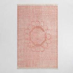 5'x8' Blush Cotton Dhurrie Print Ariana Area Rug
