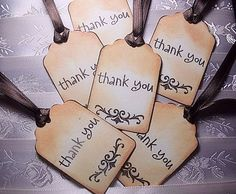 Simple Thank You Tags