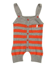Orange Striped Sleeveless Rompersuit - Infant by Imps: Baby on #zulilyUK today!