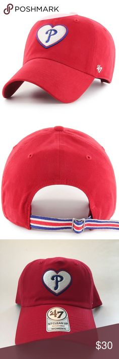 823dd8d56d788 PHILADELPHIA PHILLIES Adjustable Hat with Heart Make a statement and show  off your team spirit in