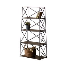 Take all those items that you want to display, such as your favorite books or vases from a trip you took, and put them on the Divide It Up Iron Shelving Unit. This set of shelves not only will eliminat...  Find the Divide It Up Iron Shelving Unit, as seen in the Soho Atelier Collection at http://dotandbo.com/collections/soho-atelier?utm_source=pinterest&utm_medium=organic&db_sku=101176