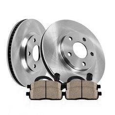 OE Series Rotors + Ceramic Pads KT096641 Max Brakes Front Premium Brake Kit Fits: 2009 09 2010 10 Dodge Dakota