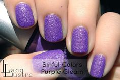 Brand: Sinful Colors // Collection: Crystal Crushes (2013) // Color: Purple Gleam // Blog: LacqLustre