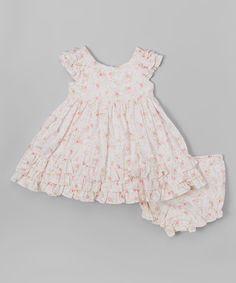 Look at this #zulilyfind! Pink Floral Ruffle Dress - Infant, Toddler & Girls #zulilyfinds