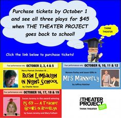 New Jersey Footlights: Theater Project: Three Plays in Three Weeks