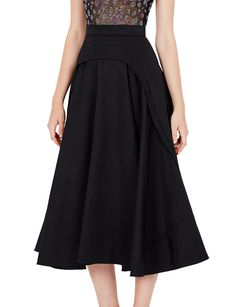 The Geodeco Skirt by AURELIO COSTARELLA is a graphic shin-length skirt with a nipped-in waist. – High-waisted – Geometric paneling – Inserted contrasting flare detail – Specialist dry clean only – Fits true to size, model wears size 0 Main: … Continue reading → Self Image, Size Model, Continue Reading, Midi Skirt, Flare, High Waisted Skirt, Gowns, Detail, Elegant