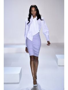 Blouse with Necktie and Cuff Detail