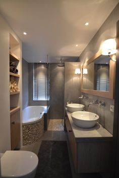 Natural materials for the rural bathroom - RON Stappenbelt . - Natural materials for the rural bathroom – RON Stappenbelt … – Bathroom Design Luxury, Bathroom Layout, Modern Bathroom Design, Small Bathroom, Bathroom Ideas, Bathroom Cabinets, Master Bathroom, Shower Remodel, Dream Bathrooms
