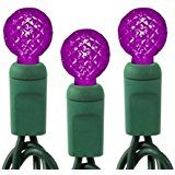 Queens of Christmas S-50G15MMPU-4G 50 Count Conical Purple Decorative LED Light Set with In-Line Rectifier on... christmas deals week