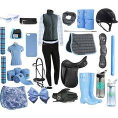 Grey and light blue dressage