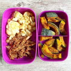 Delicious #mealprep idea Repost from @meresnuttykitchen - Don't gotta pull(ed) pork my leg to make a magnificent #MealPrepMonday!  @wholefoodsco pulled pork tenderloin made with @truefoodsinc veggie BBQ sauce roasted cauliflower and cinnamon roasted kabocha squash  Feeling like a southern belle but eating like a hangry cowboy when it comes to lunch tomorrow  . . #pourontheveggies #bbq #heresmyfood #huffposttaste #lowcarb #lowsugar #glutenfree #nongmo #yum #nom #eats #food52 #foodgawker…