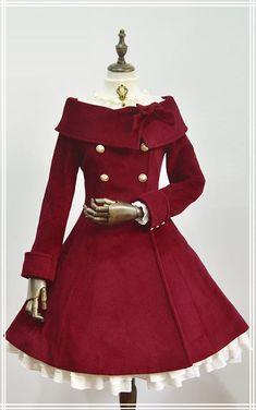UPDATE: 【-Winter Princess-】 Lolita wool coats 【In Wine Color】 Have been refilled! - UPDATE: 【-Winter Princess-】 Lolita wool coats 【In Wine Color】 Have been refilled! Dress Outfits, Cool Outfits, Fashion Dresses, Fashion Clothes, Scene Outfits, Sweater Dresses, Vintage Dresses, Vintage Outfits, Vintage Fashion