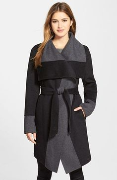 Diane von Furstenberg 'Mackenzie' Two-Tone Cozy Coat (Nordstrom Exclusive) available at #Nordstrom