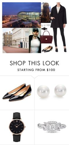 """""""Leaving Singapore and arriving in Heathrow Airport and driving in Clarence House"""" by pacqueline-ngoya ❤ liked on Polyvore featuring Rupert Sanderson, Mikimoto, CLUSE, Vera Wang and Hill & Friends"""