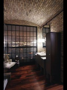 A feeling of romance in this lovely bath in a loft.