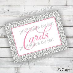 Wedding Card Box Sign :: DIY Printable