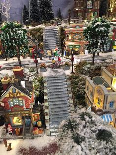 christmas train christmas houses christmas scenes christmas villages christmas carol christmas fun holiday fun holiday decor christmas decorations - Miniature Christmas Town Decorations