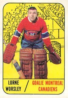 gump worsley hockey cards   1967 Topps Gump Worsley #1 Hockey Card Hockey Goalie, Hockey Teams, Hockey Players, Ice Hockey, Montreal Canadiens, Hockey Cards, Baseball Cards, Bobby Orr, Goalie Mask