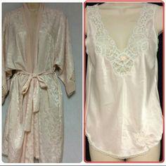Christian Doir Bundle of Robe & Chemises This beautiful Christian Dior bundle of a robe and a chemises. A very beautiful soft pink bundle in the size of small. Sorry no trades. Christian Doir  Intimates & Sleepwear