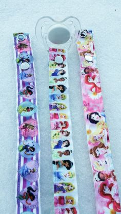 Disney Princesses Pacifier Clips  Set of 3 by JordansGallery,