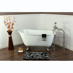 siglo best shower curtain for clawfoot tub. Small Space tub Kingston Brass Cast Iron Slipper Clawfoot Bathtub Free  Standing All in one Package 43 Carter Mini Acrylic Tub Tubs Hardware and Spaces